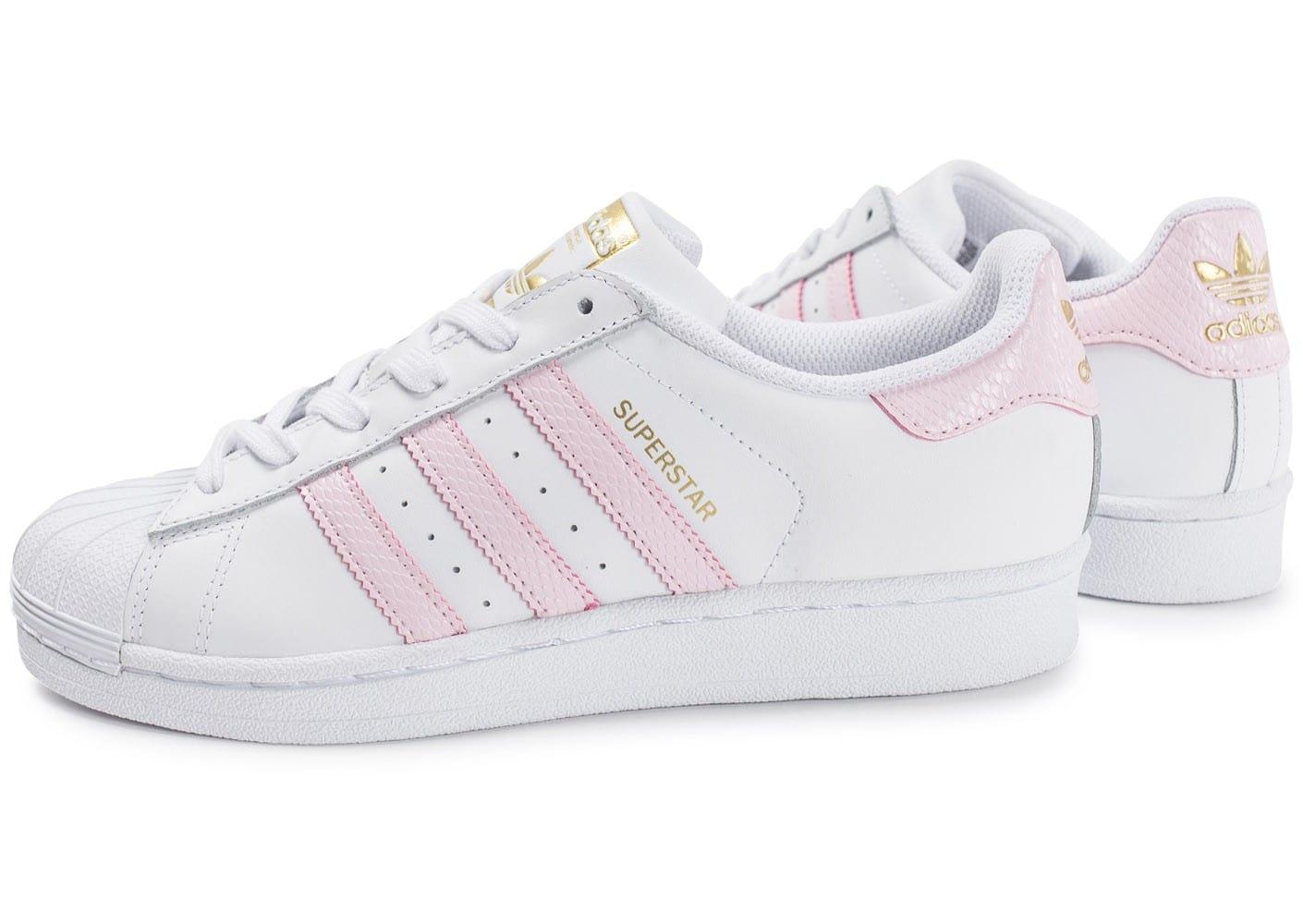 adidas superstar bande rose